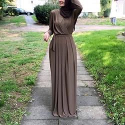 2019 mujeres musulmana Abaya Turquía Medio Oriente musulmán vestido Musical bata Ramadan Abaya parches wotk elegante Club fiesta islámica ropa
