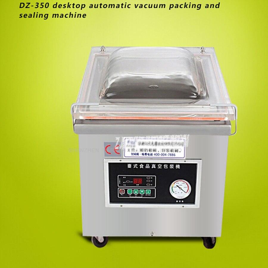 1 pc DZ-350 De Bureau Vide scellant, machine d'emballage sous vide alimentaire, bureau vide emballeur