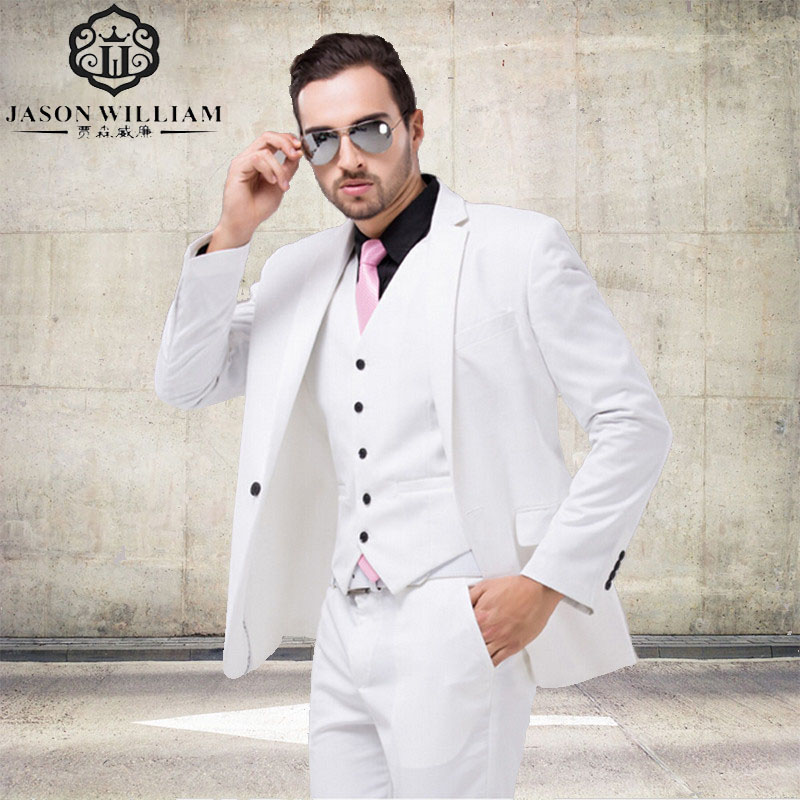 Online Cheap Mens White Suit Group