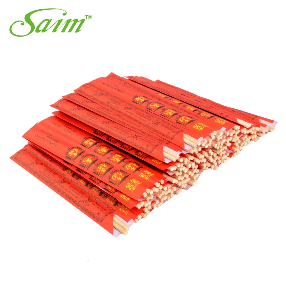 100Pairs/Bag New Chinese Chopsticks Disposable Bamboo Eco-Friendly Chopsticks Wooden Fu Symbol Chopsticks Set Kitchen Sticks