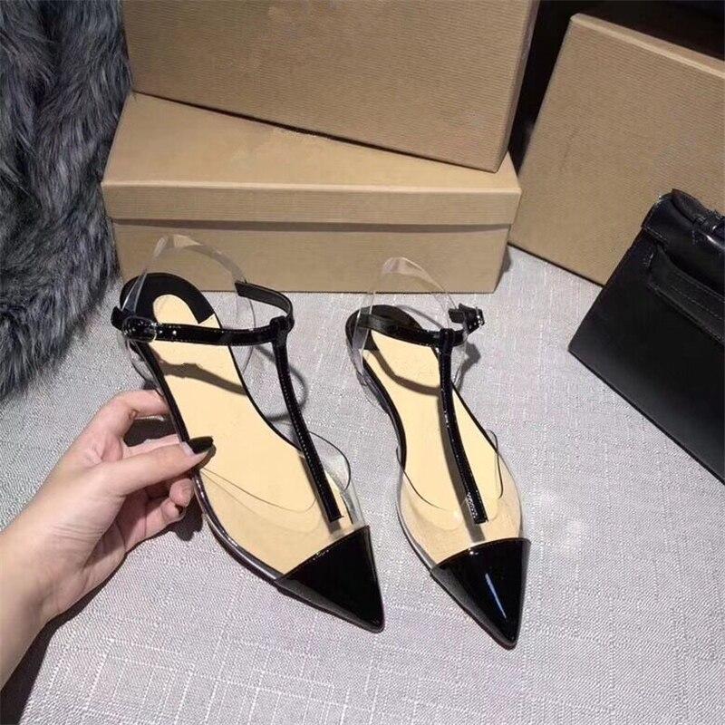 Pvc strap Partie Pointu Gladiateur Rue De T Sexy Show Chaussures Ouvertes Tenis As Femmes Décontractées Mariage Show Sangle Feminino Appartements as Mode XPiZuOk