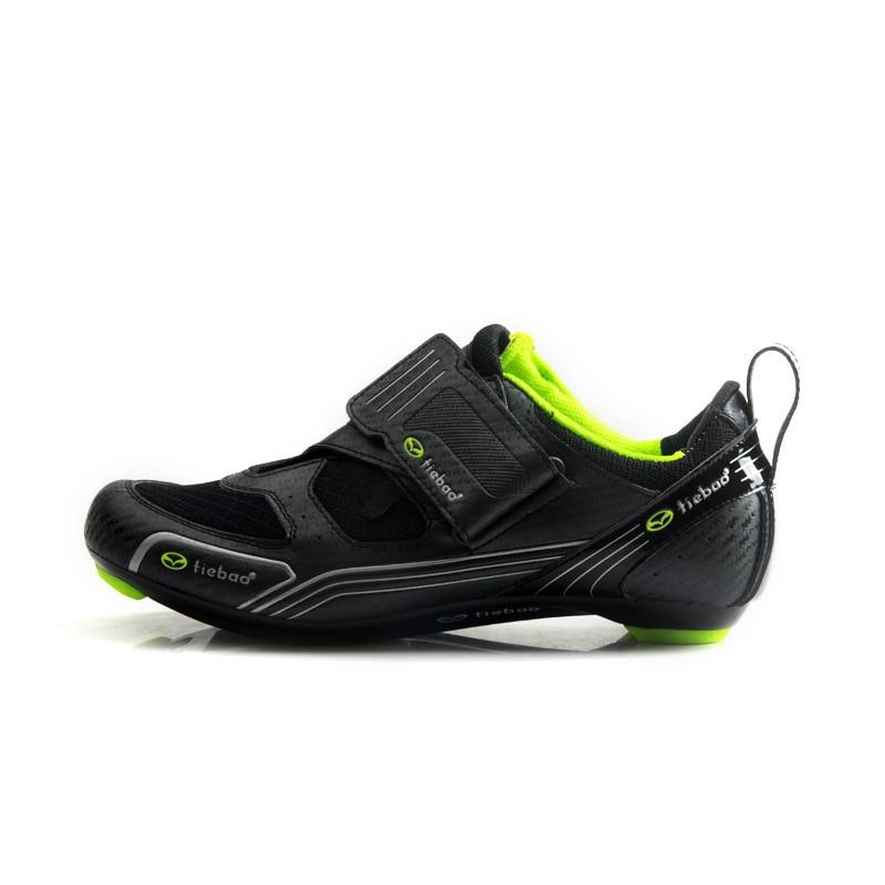 Tiebao nuevos hombres bicicleta de carretera Zapatos antideslizantes transpirables ciclismo Zapatos triatléticos Deporte Zapatos bicicleta - 3