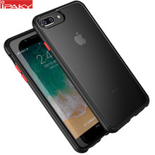 Para iPhone 8 7 funda Magic Shadow IPAKY 6 6s Plus funda con botones de colores suave parachoques PC híbrido a prueba de golpes 8 funda para iPhone 7 Plus(China)