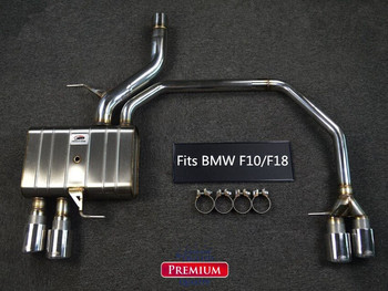 CATBACK AUSPUFF SYSTEM FÜR BMW F10/F18 520 523 525 528 530 EDELSTAHL 304 Auto Styling