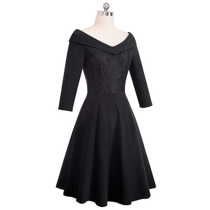 Shiweng 2019 אישה כותנה (65%) שמלת גבירותיי חולצות mujer verano בציר צווארון אונליין Pinup אנגליה שעורה נשים התלקחות שמלת A068