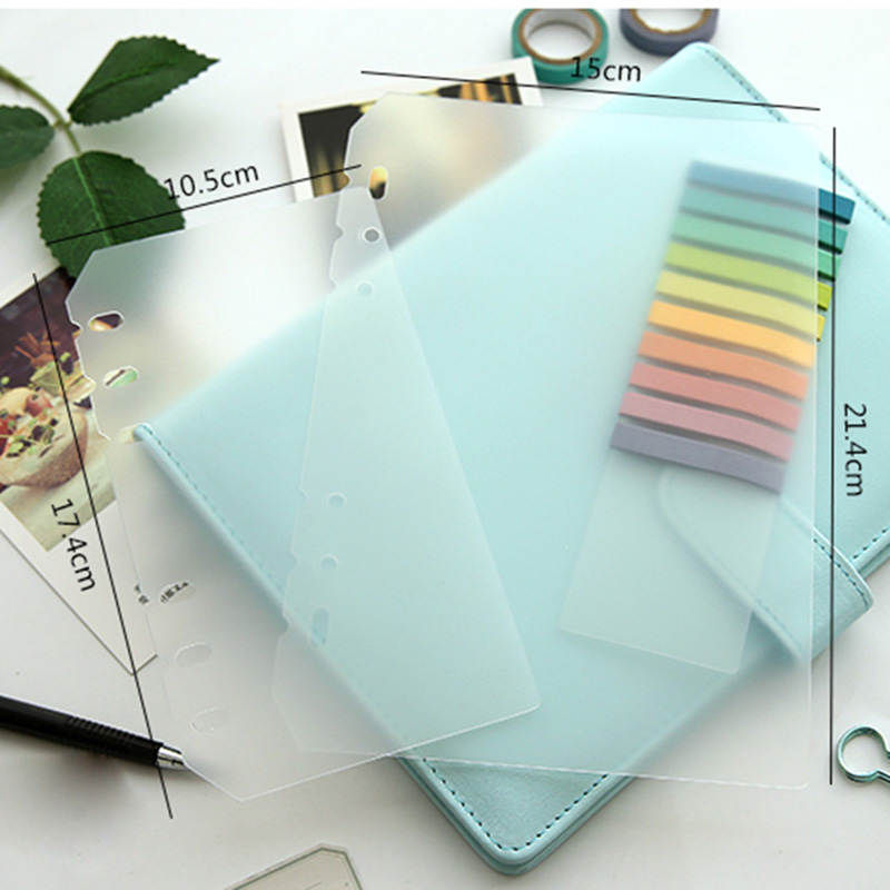 A5 A6 PP Matt Frosted Plate for Protecting Inner Paper Spacer for Planner Filofax Organizer Divider Separator Board Page 5 sheets pack a5 a6 loose leaf index paper category page sakura separator separation divider page for notebook