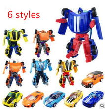 Super Cool Cars Transformation Plastic Robots Minifigures Action Figure Toy Children Birthday Gifts Brinquedos New Arrival