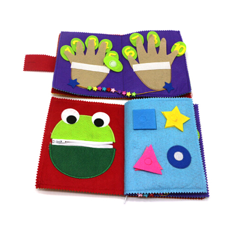 1pcs Soft Cloth Books Infant Early Educational Rattles Stroller Toy For Newborn Baby Children Toys Family Activity Book 16*19cm