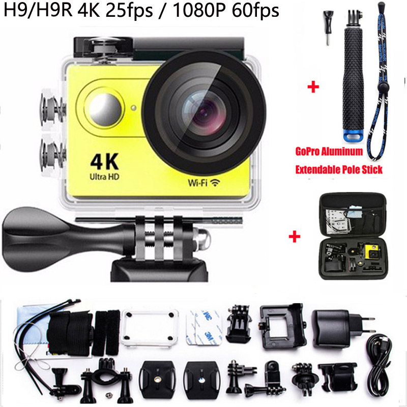 ФОТО Action camera H9R Remote camera H9 Ultra FHD 4K 1080P 60fps 720P 2.0 LCD go wifi pro waterproof diving Sport camera