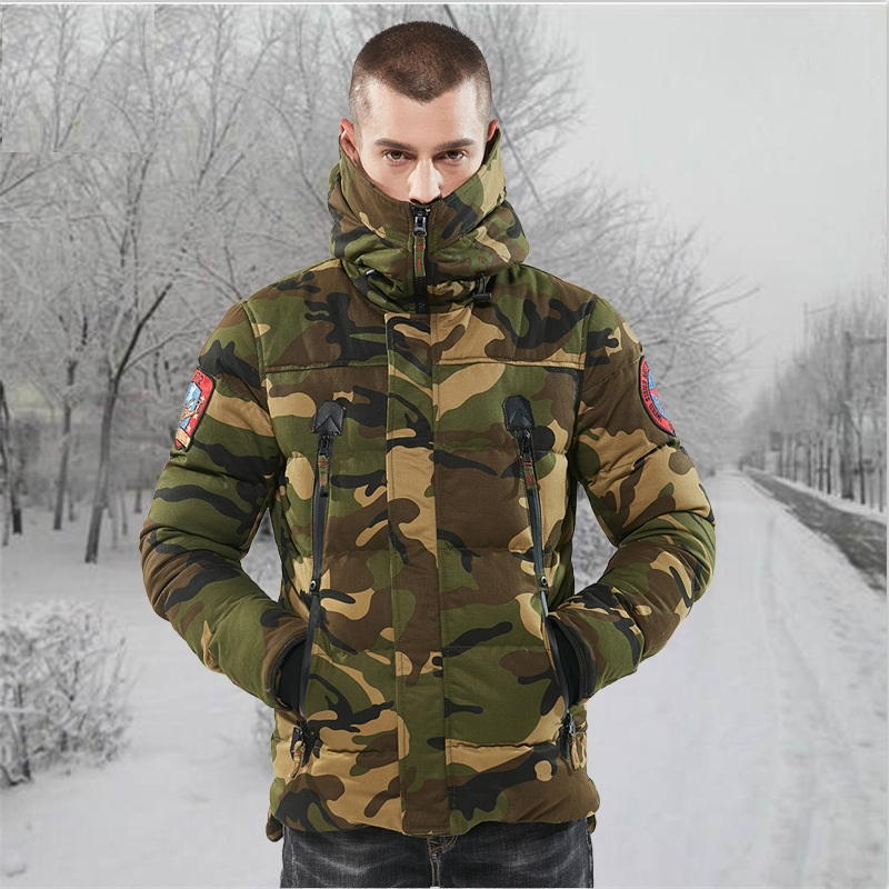 Men's Outdoor Hunting Parkas Men Winter Warm Coat Camouflage Winter Windproof Tactical Hoodie Military Hunting Coat with Hood lurker shark skin soft shell v4 military tactical jacket men waterproof windproof warm coat camouflage hooded camo army clothing
