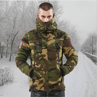 Men's Outdoor Hunting Parkas Men Winter Warm Coat Camouflage Winter Windproof Tactical Hoodie Military Hunting Coat with Hood