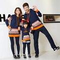 Família família ocasional definir Hoodies roupas para mãe e filha filho pai roupas da família, Ch15