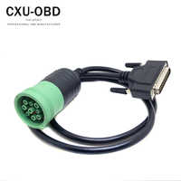 9 pin Female truck diagnostic cable support J1939 protocol hardware inline  7 to DB25pin male