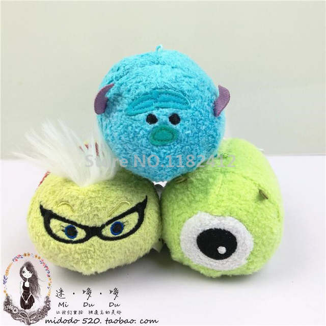 US $3 9 |New Tsum Tsum Mini Monsters University Mike Wazowski Sulley  Sullivan Boo Randall Roz Plush Toy Cute Smartphone Screen Cleaner-in Dolls  from