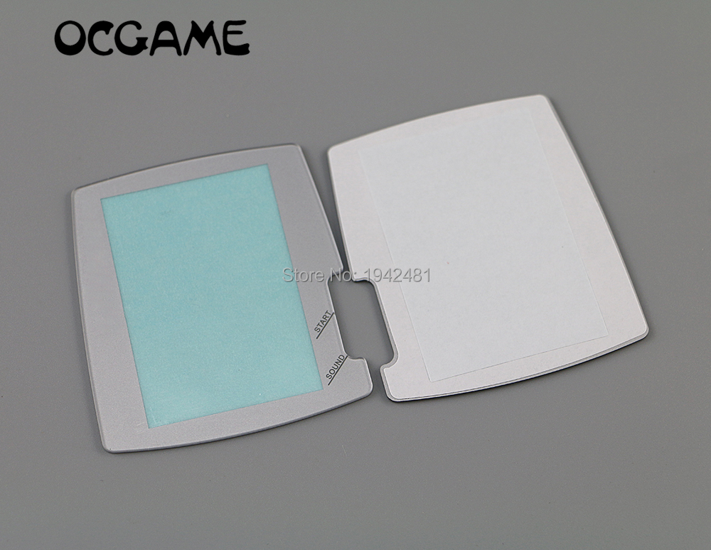 Ocgame Silver White Replacement Protector Cover For Bandai Wonder Swan Color Screens For Ws Screen Lens 6pcs/lot Warm And Windproof Consumer Electronics Video Games