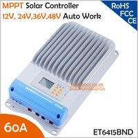 ET6415BND 60A 12 V 24 V 36 V 48 V Otomatik Çalışma MPPT Solar Şarj Kontrolörü