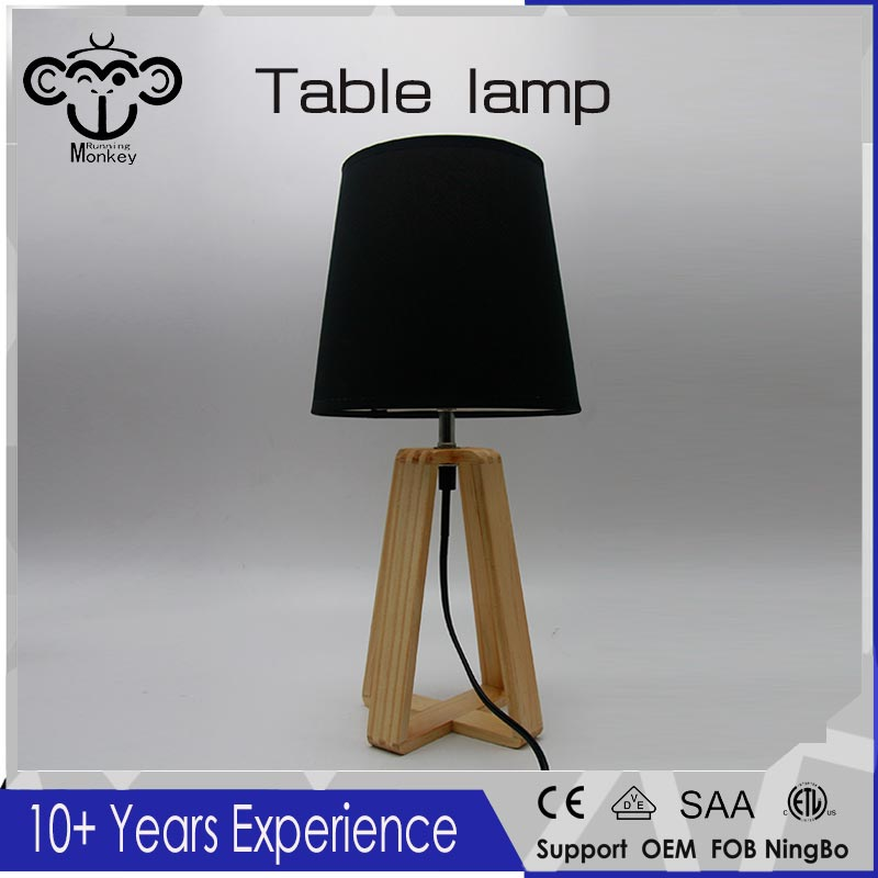 2017 New Arrived 40CM Wooden Table lamp For Modern Style Natural color  Free Shipping, For Bed room, High Quality Desk lighting