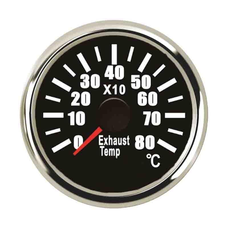 52mm Marine Digital Oil Pressure Gauge 0~5bar Press Gauge With Backlight 9~32v Fuel Gauge Fit Motocycle Boat Pressure Sensors Oil Pressure Gauges