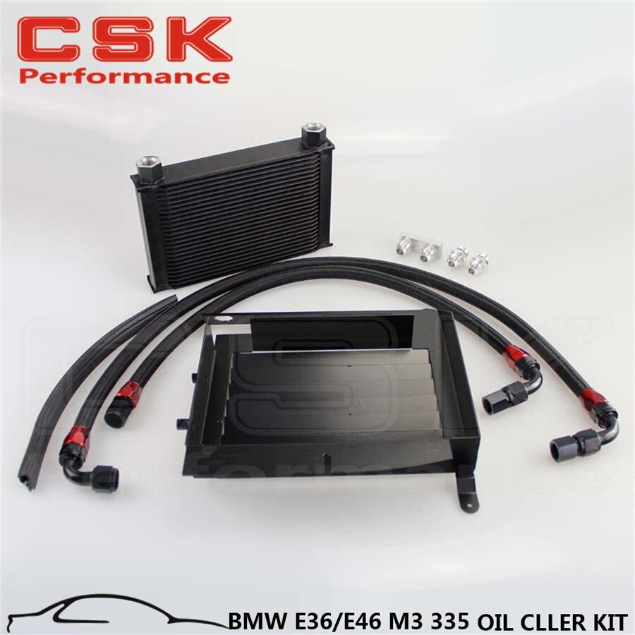 KIT de refroidisseur d'huile à boulon à 25 rangées mise à niveau pour B M W 3 SERIES 335I E90 E92 N54 noir