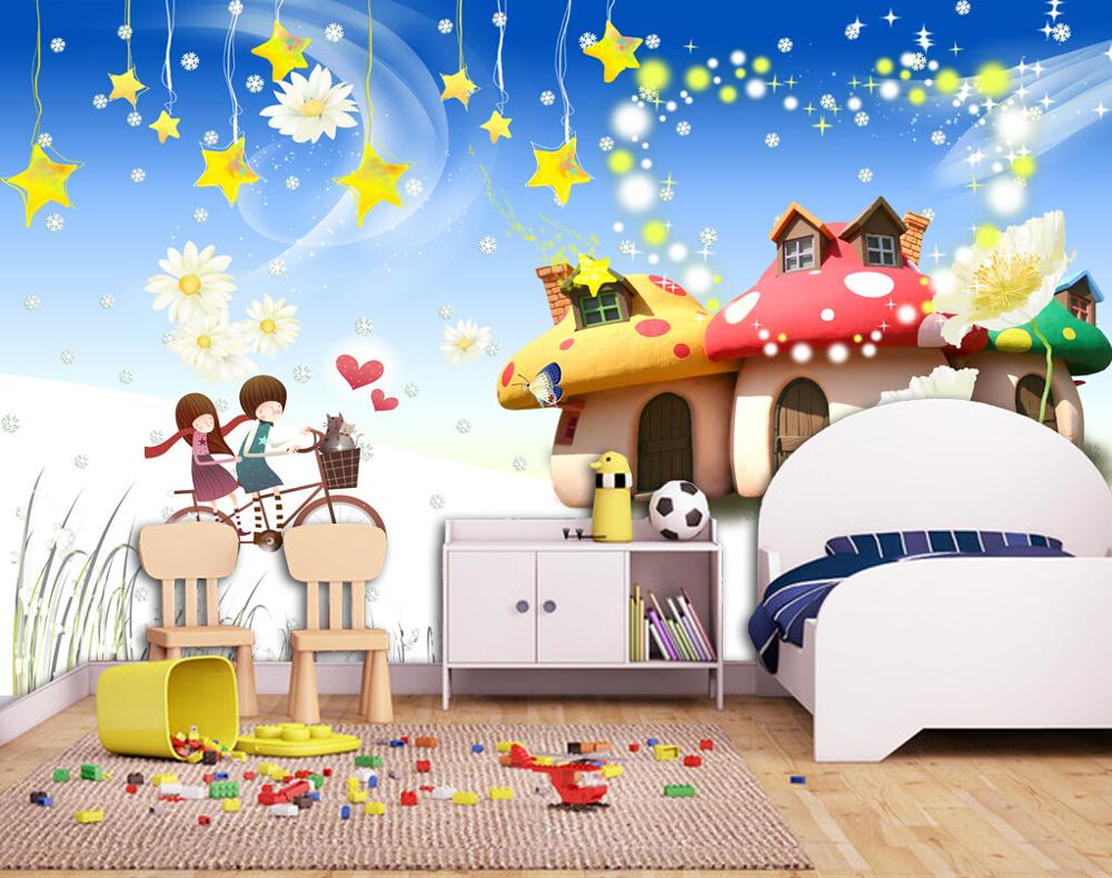 Behang Kinderkamer Strand : dorp kinderkamer behang mural cartoon ...