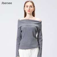 Europe Style Autumn Winter Sweater Women Sweaters And Pullovers Sexy Off Shoulder Pullover Cashmere Sweater Pull