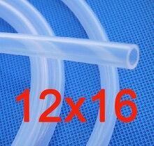 12 x 16mm Food Grade FDA Transparent Silicone Rubber Tube Hose Tubing