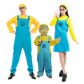 2016 children men women Minions Costume Halloween Anime Mini Despicable Me Cosplay Costumes Suits Boys/Girls Kids Party Clothes