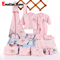 Emotion Moms 22pieces Newborn baby girls Clothing 0 6months infants baby clothes girl boys clothing baby gift set without box