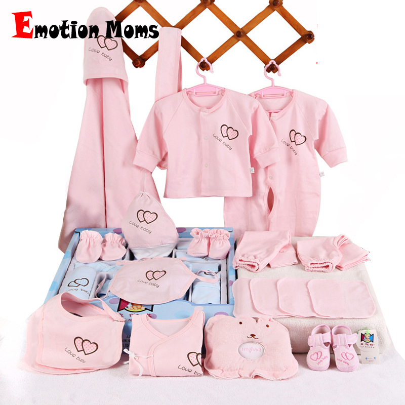 Emotion Moms 22pieces Newborn baby girls Clothing 0-6months infants baby clothes girl boys clothing baby gift set without box emotion moms newborn baby set 0 3m infant clothing suit cotton newborn baby boy girl clothes winter autumn without box 22pcs set
