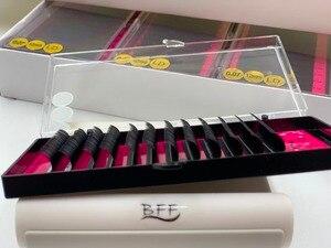 Image 3 - BFF Marka 4 kutu Kirpik uzatma 0.05/0.07/0.10 LD Büyük kıvırmak yapay Sahte Yanlış Göz Kirpik Bireysel kirpik