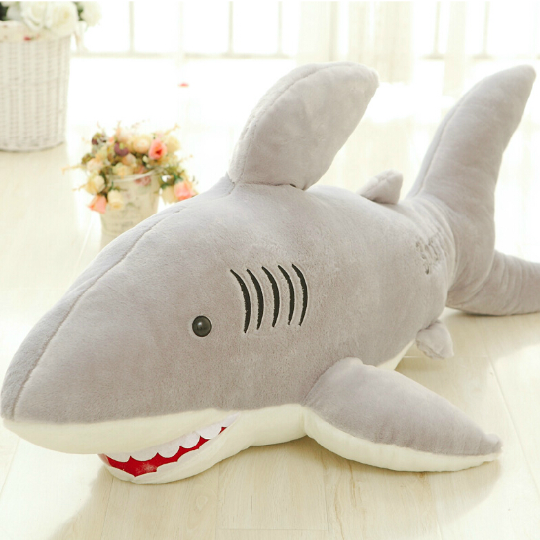 1PC 70cm High Quality  Shark Plush Toy Stuffed Pillow Doll Birthday Gift Kids Toy Baby Toy Nice Brinquedos for Children 110cm cute panda plush toy panda doll big size pillow birthday gift high quality