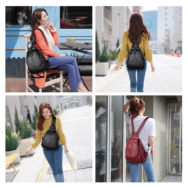 Fashion Women Backpack Genuine Leather Backpack Women Travel Bag College Preppy School Bag For Teenagers Girls Mochila fashion women backpack genuine leather backpack women travel bag college preppy school bag for teenagers girls mochila femininas