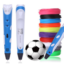 1.75mm ABS DIY Smart 3D Pen 3 D Printing Pen Drawing Pen Printer With 100 Meters Filament Creative Gift For Kids Design Painting