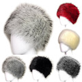 Fashion Women Lady Faux Fox Fur Cossack Style Russian Winter Hats Warm Cap