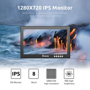 Image 2 - Eyoyo EM08G 8 Inch Monitor Small Hdmi Monitor Portable vga Monitor CCTV Screen LCD 1280x720 16:9 IPS Monitor BNC AV/VGA Display
