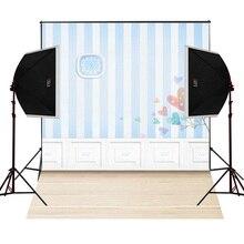 Relógio de parede azul branco câmera fotografica cênica para fotos de crianças estúdio adereços fotografia vinil pano de fundo pano de fundo pano digitais