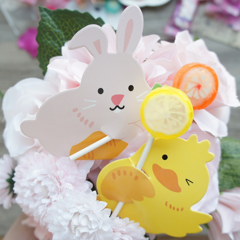 two animal 50pcs lollipop cover  rabbit duck as baby shower children birthday candy decorate party Christmas gift packaging