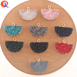 Image 1 - Cordial Design 50Pcs 18*23MM Jewelry Accessories/Resin Charms/Semicircle Shape/DIY Earrings Making/Hand Made/Earring Findings