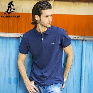 Image 3 - Pioneer kamp katı renk nefes klasik erkek Polo GÖMLEK marka giyim erkek kısa kollu eğlence Polo GÖMLEK 409010