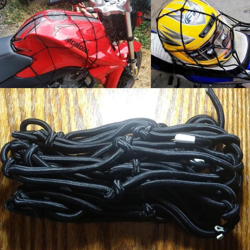 40*40CM Motorcycle Accessories Elastic Heavy-Duty Casco Helmet Holder Luggage Net Tank Mesh ATV Bike Cargo Bungee For KTM New