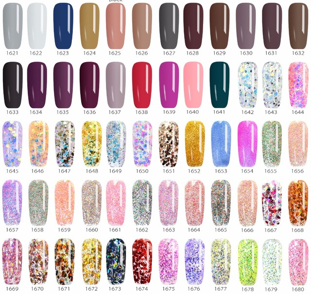 Venalisa color Gel Paint uv Nail Gel Soak Off Nail Art led nail lacquer 180 colors glitter nail rainbow Painting Gel