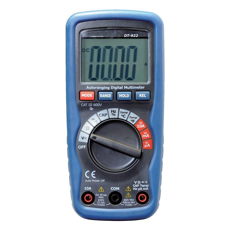 multímetro digital profesional Rango automático Probador de resistencia de tensión actual Precisión precisa