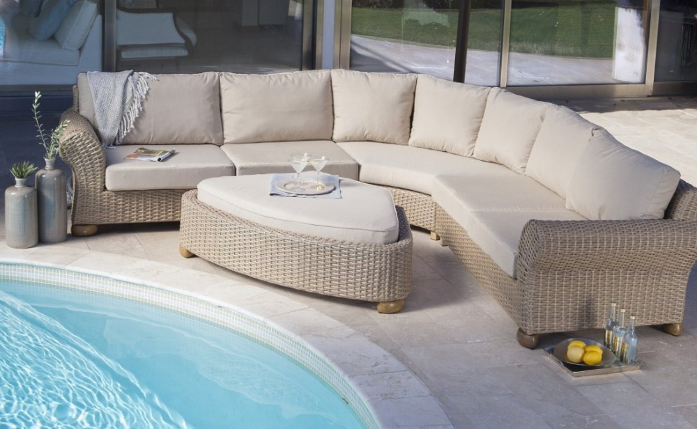2017 luxury classic home furniture 5 Seater rattan corner Sofa Set-in  Garden Sofas from Furniture on Aliexpress.com | Alibaba Group