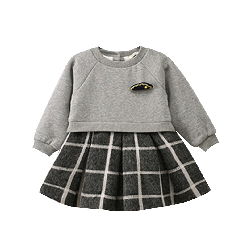 Hot Sale Girls Dress Long Sleeves Plaid Patchwork Autumn Dress 2017 Children Clothing Kids Girl Clothes Brand for Winter Toddler zuegg груша нектар 0 2 л