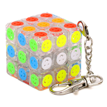 Mofangjiaoshi 35mm Mini Small Magic Cube Key Chain Smart Cube Toy Creative Key Ring Decoration 3x3x3 Cube Toys For Child mini finger magic cube key chain
