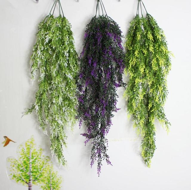Pea Design Past Atificial Green Leaf Plant Decorative Wall Hanging Plants