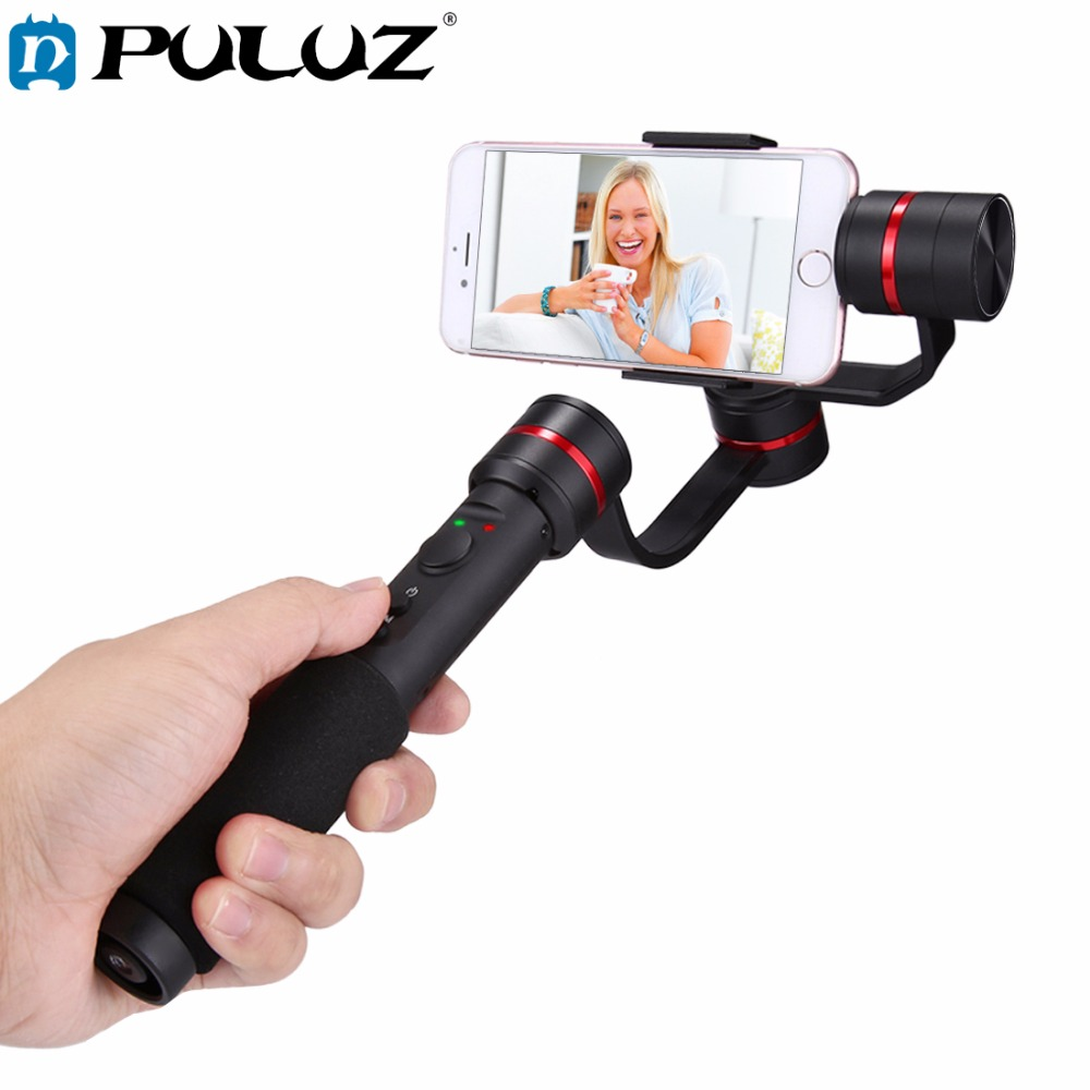PULUZ G1 3 Axis Handheld Selfie Phone Gimbal Steadicam Stabilizer Clamp Mount for 4 7 5