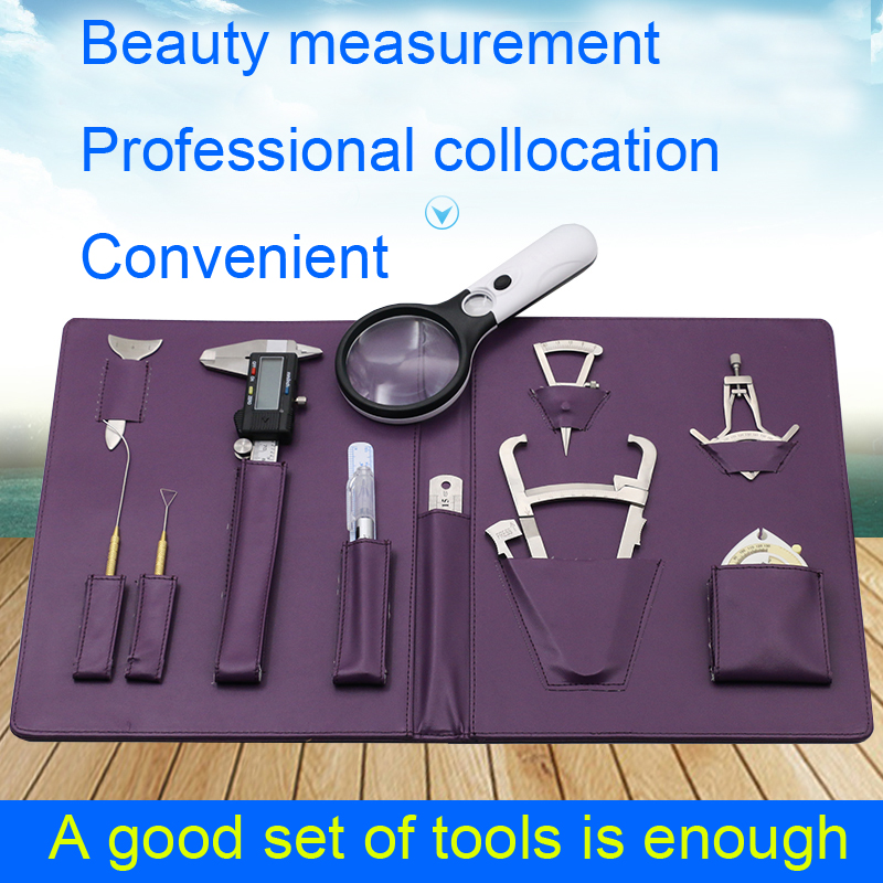 Beauty Plastic Consultant Kit Double Eyelid Designer Eye Regulation Fat Nose Horizontal Silkworm Measure Foot Clip Makeup tools