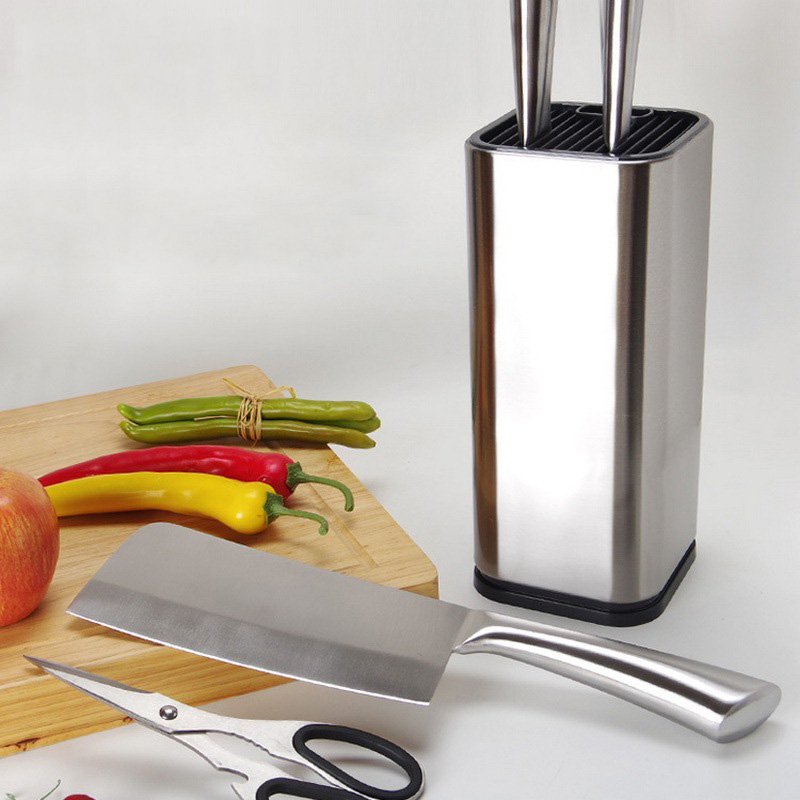 Creative Stainless Steel Knife Stand Stainless Steel Kitchen Knife Holder For Knives Large Capacity Multifunctional Tool Holder