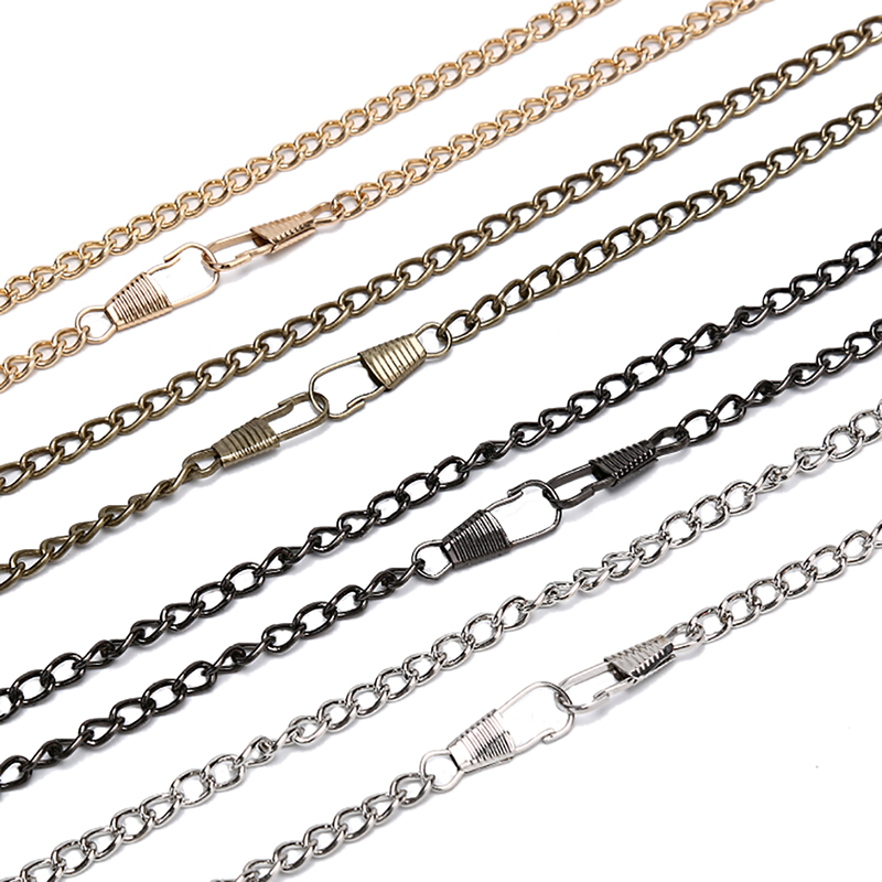 1PCS DIY Long 120cm Purse Buckles Shoulder Bags Straps Shoulder Crossbody Bag Parts Accessories For Bags Metal Chain